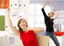 圣诞节在办公室 库存图片