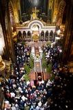 圣诞节在圣Volodymyr的大教堂里 基辅 免版税库存照片