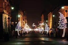 圣诞节在城市 免版税图库摄影