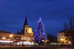 圣诞节在塔尔诺布热格 免版税库存照片