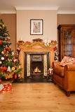 圣诞节在家 图库摄影