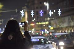 圣诞节在布加勒斯特(4) 库存图片