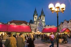 圣诞节在布拉格(联合国科教文组织),捷克共和国 库存图片