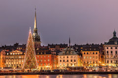 圣诞节在斯德哥尔摩 免版税图库摄影