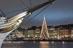 圣诞节在斯德哥尔摩 免版税库存图片