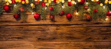 圣诞节在木板条安置的诗歌选装饰 免版税库存图片