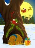 圣诞节在森林里 免版税库存图片