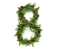 圣诞节在汇集上写字 免版税库存照片