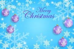 圣诞节在淡色的贺卡模板 库存照片