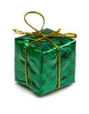 圣诞节在白色背景和玩具隔绝的圣诞节礼物 库存图片