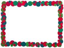 圣诞节在白色背景的小点框架 库存照片