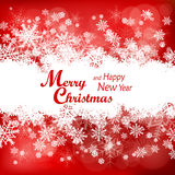圣诞节在红色的雪花样式 免版税库存照片