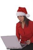 圣诞节在线采购 免版税库存照片
