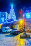 圣诞节在耶路撒冷耶路撒冷旧城 图库摄影