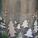 圣诞节在葡萄酒样式的题材背景 免版税库存照片