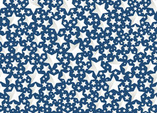 圣诞节在蓝色的背景星 库存图片
