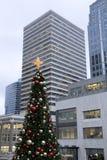 圣诞节在街市西雅图 图库摄影