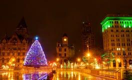圣诞节在西勒鸠斯 库存图片