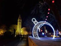 圣诞节在镇 免版税库存照片