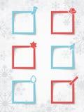 圣诞节在雪花背景的正文框与现实传染媒介阴影2 库存图片