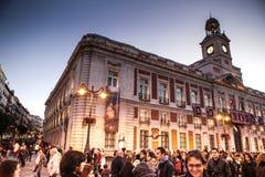 圣诞节在马德里 免版税库存图片