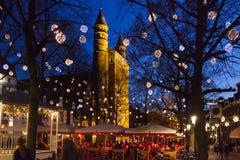 圣诞节在马斯特里赫特 免版税库存照片