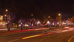 圣诞节在BC维多利亚 库存照片