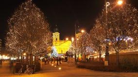 圣诞节在Debrecen 免版税库存图片