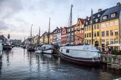 圣诞节在Nyhavn 免版税库存照片