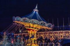 圣诞节在Tivoli 库存照片