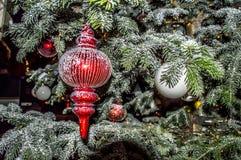 圣诞节在Tivoli 免版税库存照片