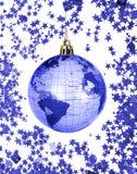 圣诞节地球世界 免版税库存照片
