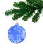 圣诞节地球结构树 图库摄影