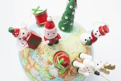 圣诞节地球装饰品 库存照片