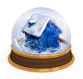 圣诞节地球雪 向量例证