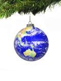 圣诞节地球 免版税库存图片