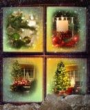 圣诞节场面装饰图案 免版税库存图片