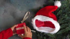 圣诞节场面赠礼 股票录像