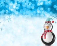 圣诞节场面雪 免版税库存照片