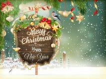 圣诞节场面,村庄 10 eps 免版税库存图片