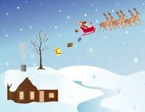 圣诞节场面 免版税库存照片