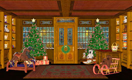 圣诞节场面 库存例证