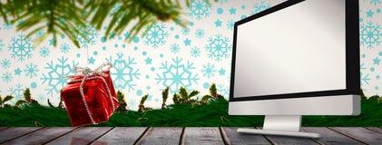 圣诞节垂悬的装饰的综合图象 库存图片