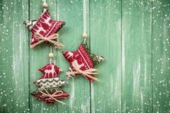 圣诞节垂悬的装饰 库存照片