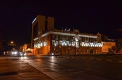 圣诞节城市神仙的拉脱维亚晚上地方上的短期相似的传说 库存图片