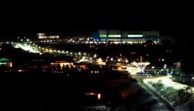 圣诞节城市神仙的拉脱维亚晚上地方上的短期相似的传说 免版税库存图片