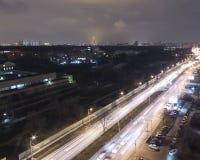 圣诞节城市神仙的拉脱维亚晚上地方上的短期相似的传说 库存照片