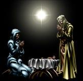 圣诞节基督徒诞生场面 皇族释放例证