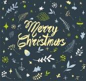 圣诞节墙纸样式 库存照片
