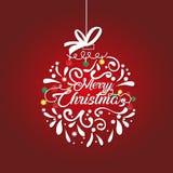 圣诞节复制装饰集中金大装饰品红色空间结构树 皇族释放例证